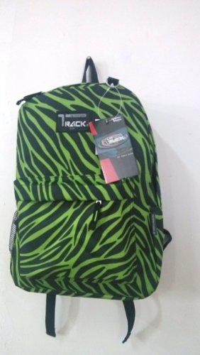 LIME Green ZEBRA  Backpack School Pack Bag 205 Stripes  Back Pack Free Ship New