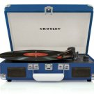Crosley CR8005A-TU Cruiser 3 Speed Portable Turntable Record Player BLUE Vinyl