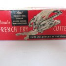 EKCO Miracle French Fry Potato Cutter with Red Wood Handle & Box Vintage T-5
