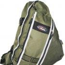 Messenger Sling Body Bag Backpack OLIVE School Pack Big Sport Day Hike Camping