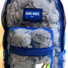 Mesh Backpack ROYAL BLUE  Pack See Through School Bag Clear Sports Gym Free Ship