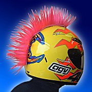 Mohawk For Your Helmet Motorcycle BMX  Hard Hat