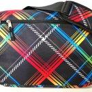 Messenger Sling Body Bag School Purse Neon Stripes  Free Shipping Shoulder Large