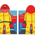 Fireman Hooded Beach Towel Kids Bath Costume Cotton Pool Cover Up Robe Fun New