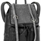 Rhinestone Accent Multi Pocket Tall Fashion Backpack Black Ladies Large New