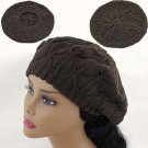 BROWN  Crochet  Knitted Tam Hat  Free Shipping NEW  Warm Winter  Woman's Ladies