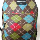 Backpack  School Pack Bag Diamond Plaid  Hiking Camp Camping Free Shipping New