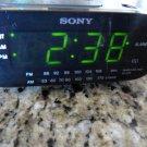 Sony Dream Machine Radio Alarm Clock Model ICF-C218 Black AM/FM Auto Time Set