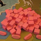 RISK Wooden Army Game Pieces PINK Color Cubes Crafts Jewelry Wood Parts VTG