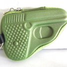 Pistol Shape Coin Change Purse Keychain Zipper Key Purse Bag Gun Case Fashion