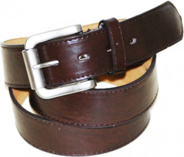 """Men's BROWN Leather Belt  1 1/2"""" Wide Roller Buckle Free Shipping Small-3XL Size"""
