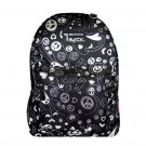 Black Peace Hearts  Backpack School Pack Bag 205 Back Pack Free Shipping  Print