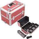 Makeup Case Cosmetic Organizer Hot Pink  Crocodile Free Shipping Professional