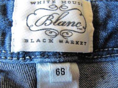 White House Black Market Blanc Boot Leg Jeans Size 6 S free Shipping