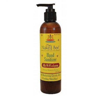 Naked Bee Hand Sanitizer Pump Bottle 8 oz Orange Blossom Honey