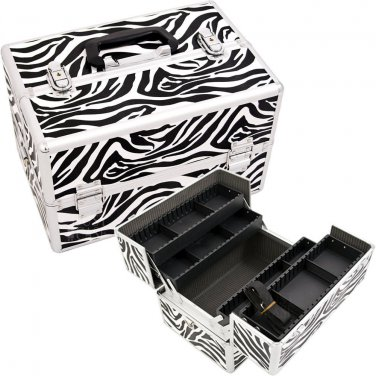 Nail Polish Case Zebra Pro Beauty Case  Beauty Makeup Train  Organizer Pro