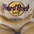 "Hard Rock Cafe DENVER Isaac Beara 1st in Series of 5  Bear 8"" w/ Tags Plush"