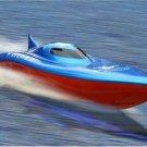 "23"" Balaenoptera Musculus Racing Boat Red Blue High Speed Race Duel Motors"