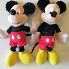 "TWO 12"" MIckey Mouse Plush  Disneyland Dolls Toy Pair 2 Walt Disney World"