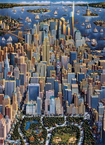 NEW YORK  500pc 16x20 Jigsaw Puzzle Eric Dowdle Folk Art  NIB Made In USA City