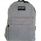 Backpack  School Pack Bag  Black White Checks Hiking Camp Camping Free Shipping
