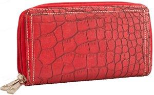 Wallet Credit Card Holder Coin Purse Checkbook Alligator Clutch Faux Black/Choc