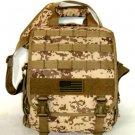 Laptop Backpack Rucksack Tactical Shoulder Messenger Bag TAN ACU Molle Design