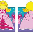 Princess  Hooded Beach Towel Kids Bath Costume Cotton Pool Cover Up Robe Fun New