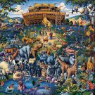NOAH'S ARK 100pc 16x20 Jigsaw Puzzle Eric Dowdle Folk Art KIDS Children Easy NIB