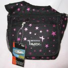 Medium Messenger Sling Body Bag Backpack Black Stars Cross Body Shoulder Purse
