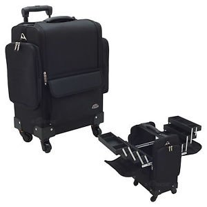 4-Wheels Soft-Sided Trolley Case  Makeup Bag Make Up Beauty  Professional Salon