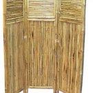 Bamboo Room Divider Privacy Screen Decorative 3Panel Folding 63 x 53 Home Decor