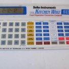 Seiko Kitchen Whiz SII Food Preparation  Conversion Computer Calculator Timer