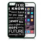I Know The Plans Christian Fits iPhone 6 Cover Black JESUS Free Ship Cell Rubber