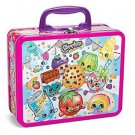 Shopkins 100 piece Puzzle asst Lunchbox Tin Characters Tin Lunch Box Case Jigsaw