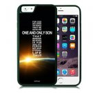 John 3:16 Christian Fits iPhone 6 Cover JESUS Free Ship Cell Soft Rubber faith