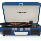 Crosley CR8005A-BL Cruiser 3 Speed Portable Turntable Record Player BLUE Vinyl