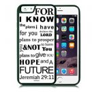 I Know The Plans Christian Fits iPhone 6 Cover White JESUS Free Ship Cell Rubber
