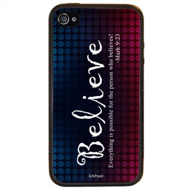 BELIEVE  Christian Fits iPhone 5 Case RUBBER Cover Free Ship Protection Cell