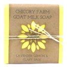 Goat Milk Soap Lavender, Lemon & Clary Sage Chicory Farm Natural Handmade Oils