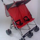 Twin Umbrella Stroller New Baby Double Strollers #4232 Baby Toddler 2 Seater Red