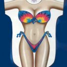 Tie-Dye Bikini Beach Cover Up Sexy Body T Shirt Night pool sleep Tee Nighty