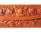 Leather Wallet Mexican Tooled Flowers Mirror Credit Cards Coin Purse Tan Ladies