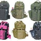 Nexpak Tactical Assault  Messenger Sling Bag  Hiking Day Pack  MOLLE Loops Hike