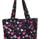 Classic Tote Bag Handbag Purse Hearts Diaper Carry All Shopper Handbag Beach