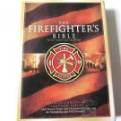 The Firefighter's Bible HCSB Red Bonded Leather Slide Tab Closure New Christian