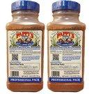2- PAPPY'S 50% Less Salt Choice Seasoning Spice BBQ Rub 28 OZ Professional BLUE