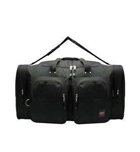 """LARGE BLACK DUFFELBAG  DUFFEL BAG Multi Pocket 30"""" Travel Huge Capacity Big"""
