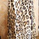 Cheetah Skirt Animal Leopard Dress Print Button