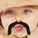 BabyStache Kissable Baby Pacifier Wrangler Black Child Infant Shower Gift